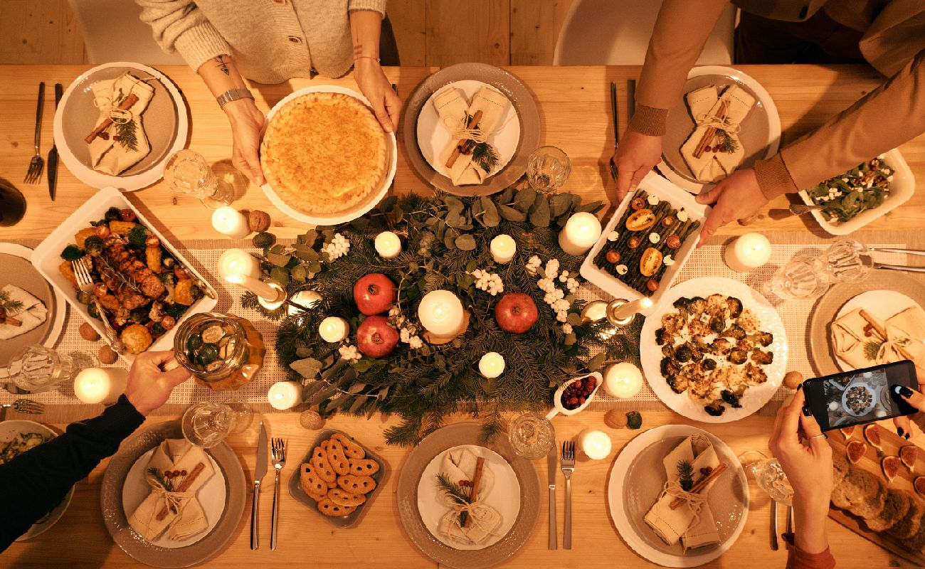Christmas Table From Above