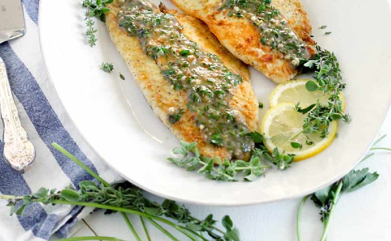 Minted Sea Bass With Capers