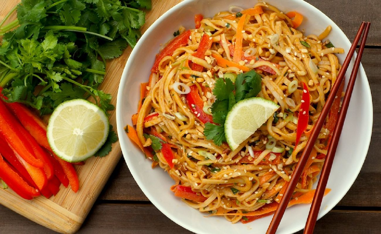 Spicy Peanut And Ginger Noodles